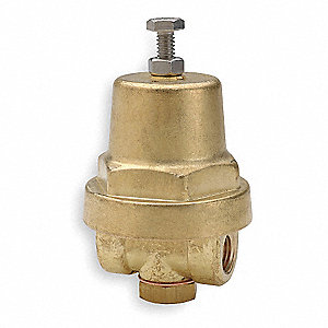 "A-16 Series 2-1/4""L Brass Pressure Regulator, 10 to 50 psi"