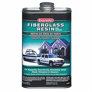 Fiberglass Resin,Liquid,1 Qt,Light Straw