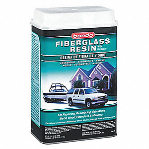 Fiberglass Resin,Liquid,1Gal,Light Straw