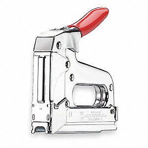 "7-1/4"" Professional Duty Wire and Cable Staple Gun, Chrome"