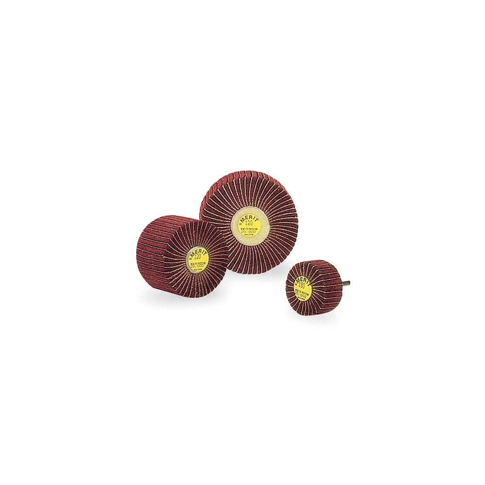 MERIT Flap Wheel,Interleaf,AO,2x1x1//4 Shk,180G 08834123201