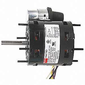 1/20 HP, HVAC Motor, Permanent Split Capacitor, 3000 Nameplate RPM, 115 Voltage, Frame 3.3