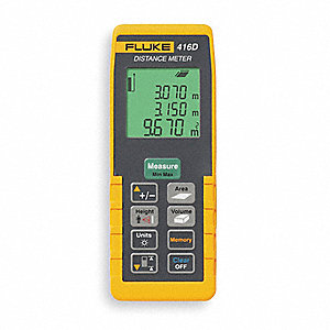 "Laser Distance Meter, ±1/16"" Accuracy, 0.16 to 200 ft. Range"
