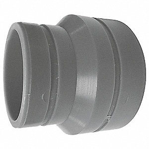 "3"" x 1-1/2"" Reducing Bushing, Polypropylene, Max. Pressure 80 psi, Blue"