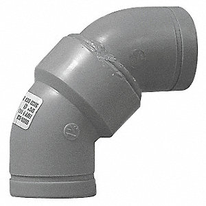 "4"" Long Sweep Elbow, 90°, Polypropylene, Max. Pressure 80 psi, Blue"