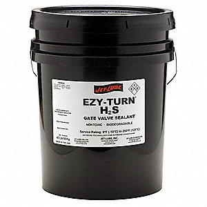 10 lb. Gray/Black Paste Gate Valve Sealant, Organophyllic Clay Thickener, 3 to 9 pH Range