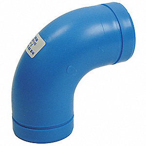 "1-1/2"" Elbow, 90°, Polypropylene, Max. Pressure 80 psi, Blue"