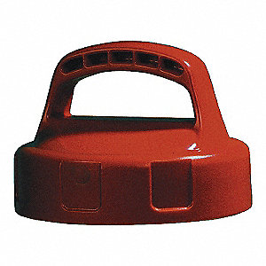 HDPE Storage Lid, Orange&#x3b; For Use With Mfr. No. 101001, 101002, 101003, 101005, 101010