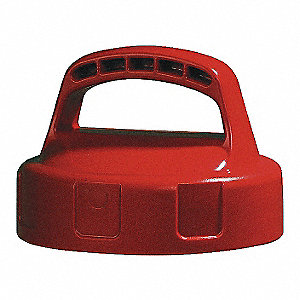 HDPE Storage Lid, Red&#x3b; For Use With Mfr. No. 101001, 101002, 101003, 101005, 101010