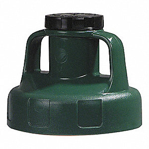 UTILITY LID,W/2 IN OUTLET,HDPE,DK G