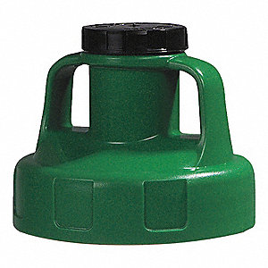 UTILITY LID,W/2 IN OUTLET,MID GREEN