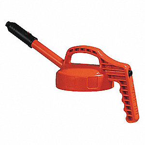 Stretch Spout Lid,w/0.5 In Outlet,Orange