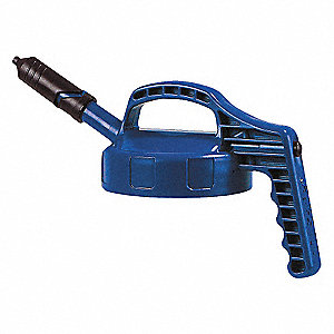 HDPE Mini Spout Lid, Blue; For Use With Mfr. No. 101001, 101002, 101003, 101005, 101010