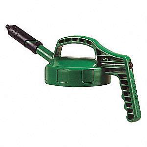 HDPE Mini Spout Lid, Mid Green&#x3b; For Use With Mfr. No. 101001, 101002, 101003, 101005, 101010