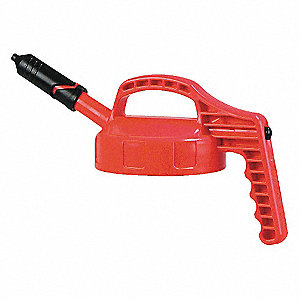 HDPE Mini Spout Lid, Red; For Use With Mfr. No. 101001, 101002, 101003, 101005, 101010