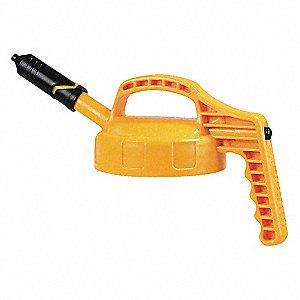 HDPE Mini Spout Lid, Yellow; For Use With Mfr. No. 101001, 101002, 101003, 101005, 101010