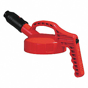 HDPE Stumpy Spout Lid, Red&#x3b; For Use With Mfr. No. 101001, 101002, 101003, 101005, 101010