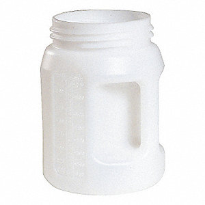 2 Liter HDPE Fluid Storage Container, Clear