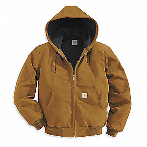 Hooded Jacket,Insulated,Brown,2XL