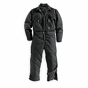 Coverall,Chest 50In.,Black