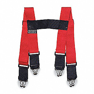 Suspenders,Red,S,36 In. L