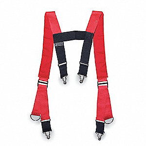 Suspenders,L,48 In. L,Red
