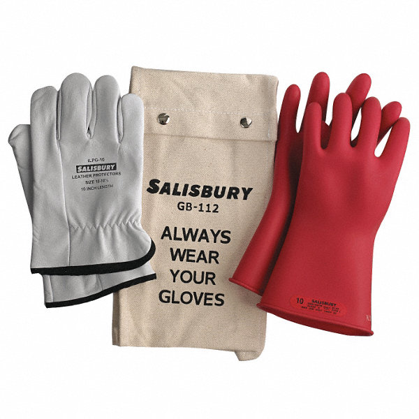 Electrical Glove Tester : Salisbury red electrical glove kit natural rubber