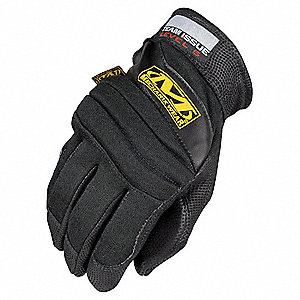 Fire Retardant Gloves,L,Black,PR