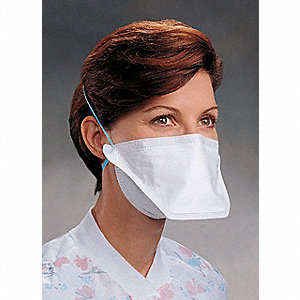 N95 Disposable Particulate Respirator, White, Universal, 50PK