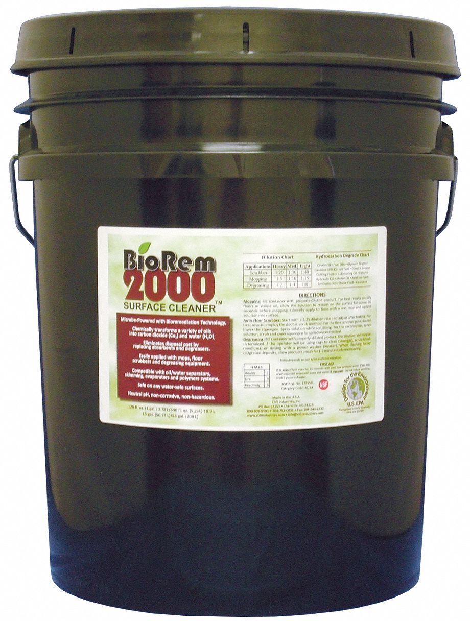 Cleaner/Degreaser,  5 gal Cleaner Container Size,  Pail Cleaner Container Type,  Unscented Fragrance