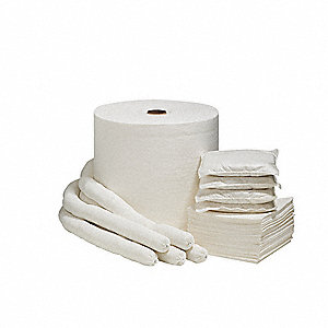 "12"" x 12"" Medium Absorbent Pad for Universal, White, 100PK"