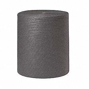 Medium, Polypropylene Absorbent Roll, Fluids Absorbed: Universal / Maintenance, 300 ft. Length