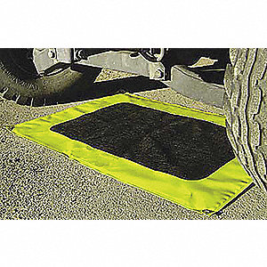 Sorbent Berm,24 x 54 In,Yellow