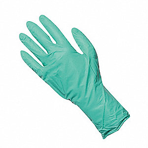 "11-1/2"" Powder Free Unlined Neoprene Disposable Gloves, Green, Size  XL, 50PK"