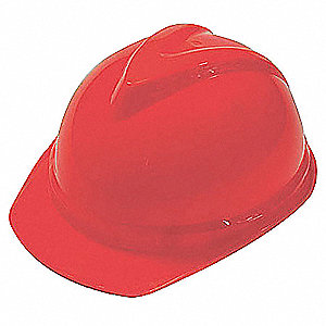 Front Brim Hard Hat, 6 pt. Ratchet Suspension, Hi-Visibility Orange, Hat Size: 6-1/2 to 8