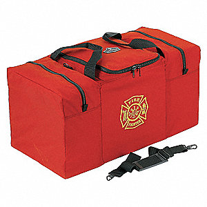 "Red Step-In Combination Gear Bag,  Nylon,  29"" Length,  15"" Width,  15"" Height"