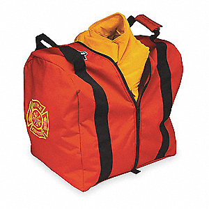 "Red Step-In Tall Gear Bag,  Nylon,  20"" Length,  18"" Width,  15"" Height"