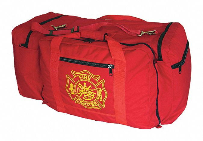 Red Gear Bag,  Nylon,  Includes Handle, Handle Wrap,  11,000 cu in Storage Capacity,  32 in Length