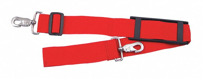 Red Gear Strap,  Nylon Webbing,  Includes Snap Hook,  48 in Length,  2 in Width,  1/4 in Height