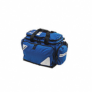 Bag,Trauma,22 L x 12 W x 14 In H,Blue