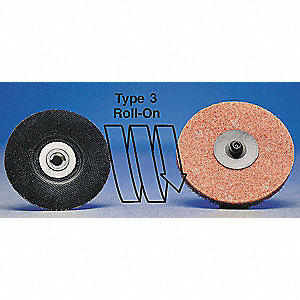 "1-1/2"" Coated Quick Change Disc, TR Roll-On/Off Type 3, 100, Fine, Zirconia Alumina, 1 EA"