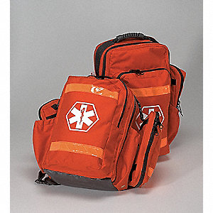 Backpack,Rescue,Nylon,Orange,20x11x6 In