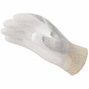 13 Gauge Smooth Polyurethane Coated Gloves, Glove Size: S, White