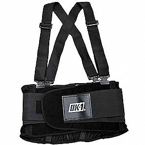 Back Support W/Suspenders,Contoured,3XL