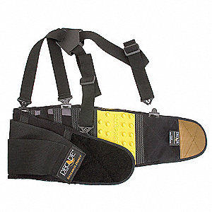 BACK SUPPORT,ACCUPRESSURE,BLACK,L