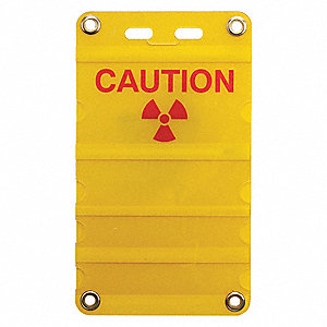 "Caution, Caution, Plastic, 12"" x 8"", Surface, Not Retroreflective"