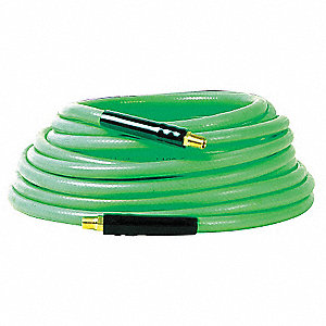 50 ft. PVC Flexible Plastic Hose, Pneumatic Hose Max. Pressure: 350 psi, Green