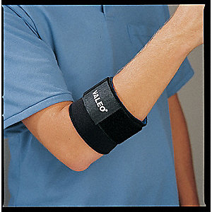 ELBOW SUPPORT,L,BLACK,SINGLE STRAP