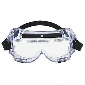 Uncoated Chemical Splash Goggles, Clear Lens Color