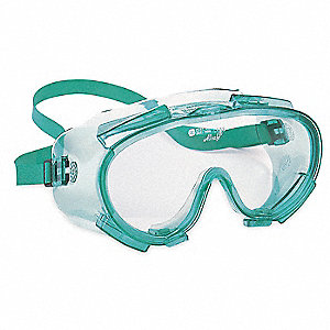 Anti-Fog, Scratch-Resistant Splash Safety Goggle, Clear Lens Color